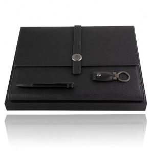 Parure HUGO BOSS (stylo bille, écritoire A4 & porte-clefs) HPBFK004