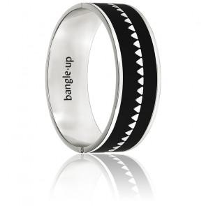 Bracelet Argent Bollystud Noir