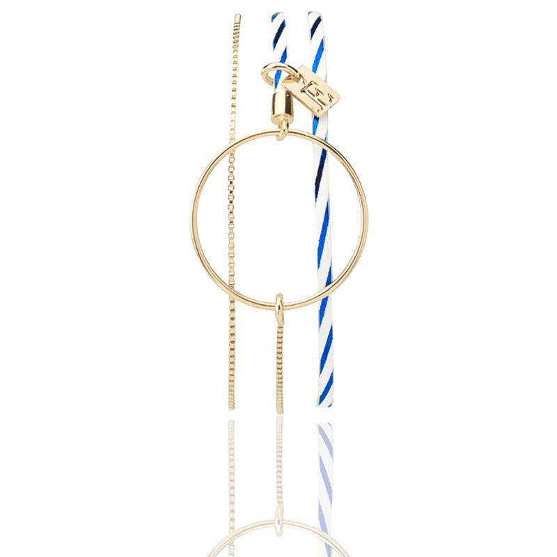 Bracelet Nolah Marinière Doré