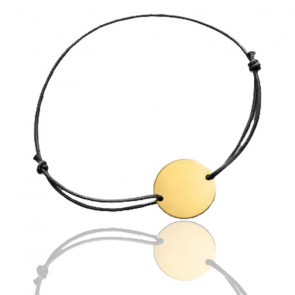 Bracelet cordon personnalisable, Or Jaune 18K