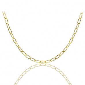 Collier Fancy ovale or jaune 9K