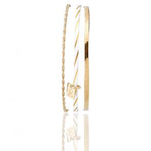 Bracelet Demy, Blanc ligne doré