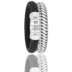 Bracelet Customisable Ben Argent & Cuir