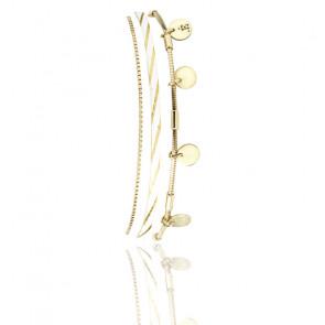 Bracelet Rosalie Blanc Ligne Doré