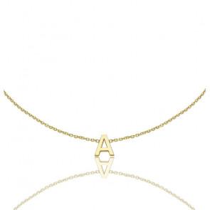 Bracelet Petite Initiale Or Jaune 9K