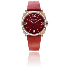 Montre Golden Rouge Sunny Bracelet Cuir Rouge