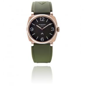Montre Golden Vert Khaki Mat Bracelet Silicone Vert Khaki Large