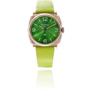 Montre Golden Vert Sunny Bracelet Cuir Vert