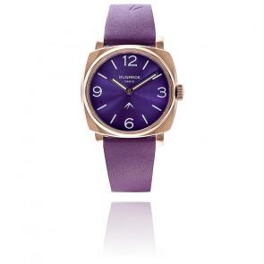 Montre Golden Violet Sunny Bracelet Cuir Violet