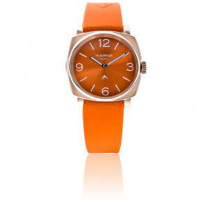 Montre Golden Orange Sunny Bracelet Silicone Orange