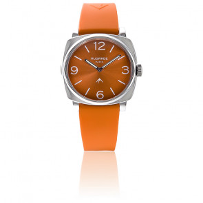 Montre Steel Orange Sunny Silicone Orange