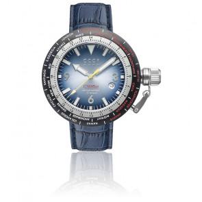 Montre Russia Timezone Bleu CP-7053-02