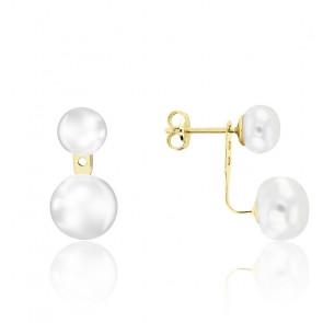 Boucles d'oreilles Perles Or Jaune 9K