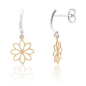 Boucles d'oreilles Fleur Or Rose 9K