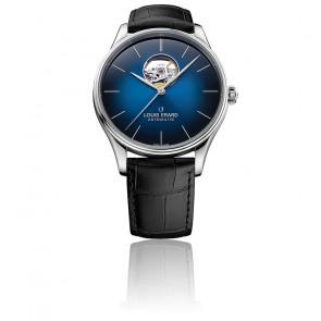 Montre Heritage bleue Open Heart 60287AA85.BAAC82