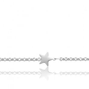Bracelet étoile Argent rhodié 925