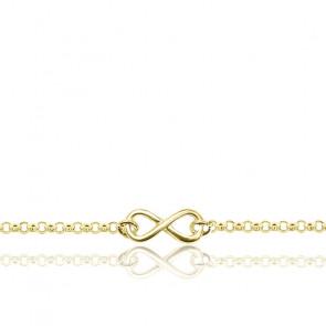 Bracelet Infini Plaqué Or Jaune