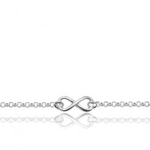 Bracelet infini Argent rhodié 925