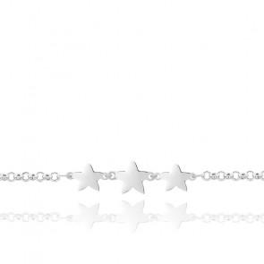 Bracelet Etoiles Argent Rhodié 925