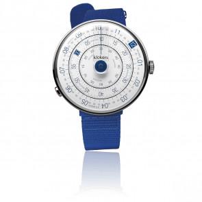 Montre KLOK-01-D4.1 Cadran Blanc et Bleu