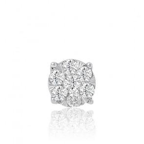 Collier Illusion diamants & or blanc 18K