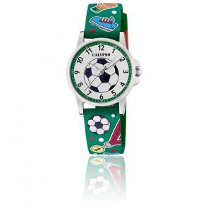 Montre Junior Football Verte K5790/2