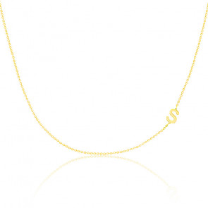 Collier lettres or jaune 18K