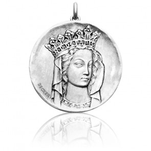 Médaille Vierge Notre-Dame Or Blanc 18K