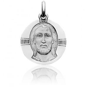 Médaille Christ Byzantin Or Blanc 18K