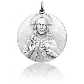 Médaille 2 Faces Vierge Scapulaire du Mont Carmel Argent