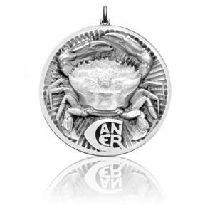 Médaille Zodiaque Signe du Cancer Argent