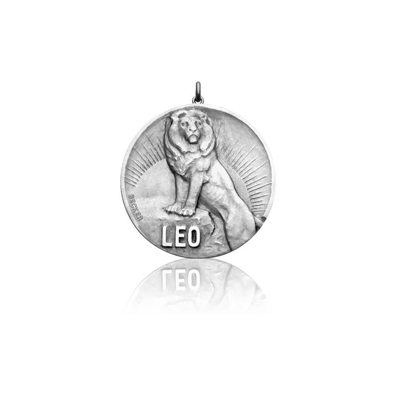 Médaille Zodiaque Signe du Lion Argent