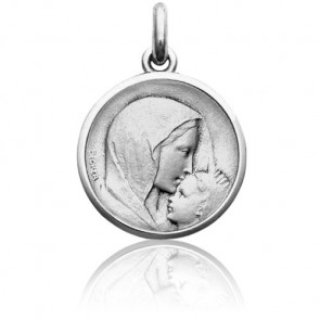Médaille Vierge à l'Enfant le Baiser Argent
