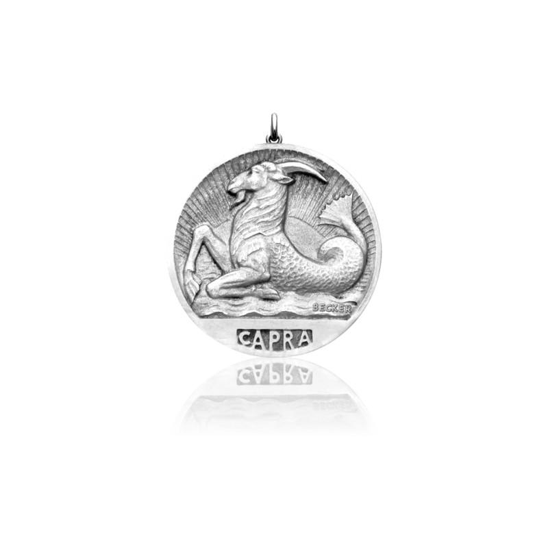 Médaille Zodiaque Signe du Capricorne Argent