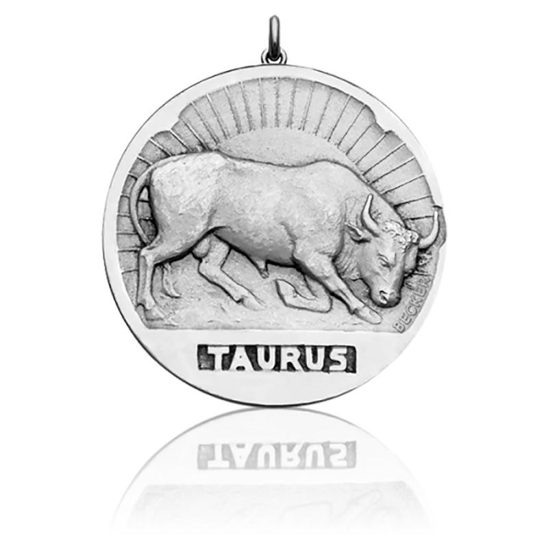Médaille Zodiaque Signe du Taureau Argent
