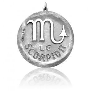 Médaille Zodiaque Signe du Scorpion Argent