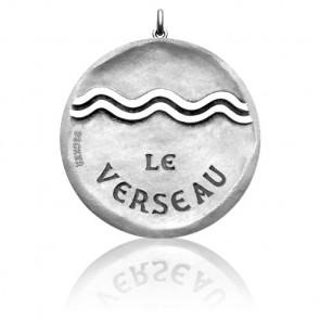 Médaille Zodiaque Signe du Verseau Argent