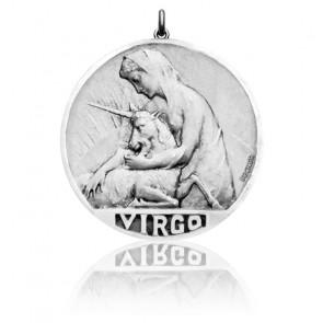 Médaille Zodiaque Signe de la Vierge Argent