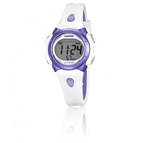 Montre  blanche et violette K5609/2