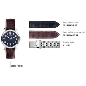 Bracelets en cuir ou acier pour montre série 12250