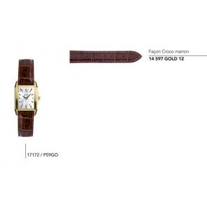 Bracelet façon Croco marron pour montre série 17172