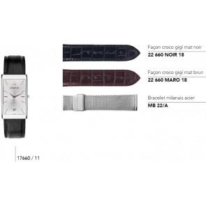 Bracelets en cuir pour montre série 17660