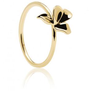 Bague Narcise dorée