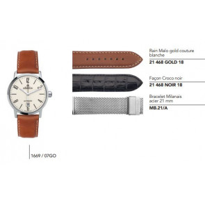 Bracelets en cuir ou acier pour montre série 1669