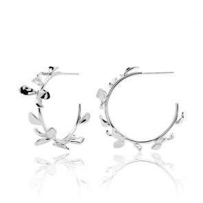 Boucles d'oreilles Lily en argent - AR02-193-U