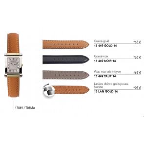Bracelets en cuir pour montre série 17049