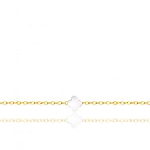 Bracelet Trèfle Or Jaune 18K