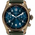Montre Summit 2+ acier couleur bronze et cuir MB127679