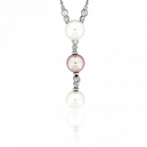 Collier Cascade de Perles