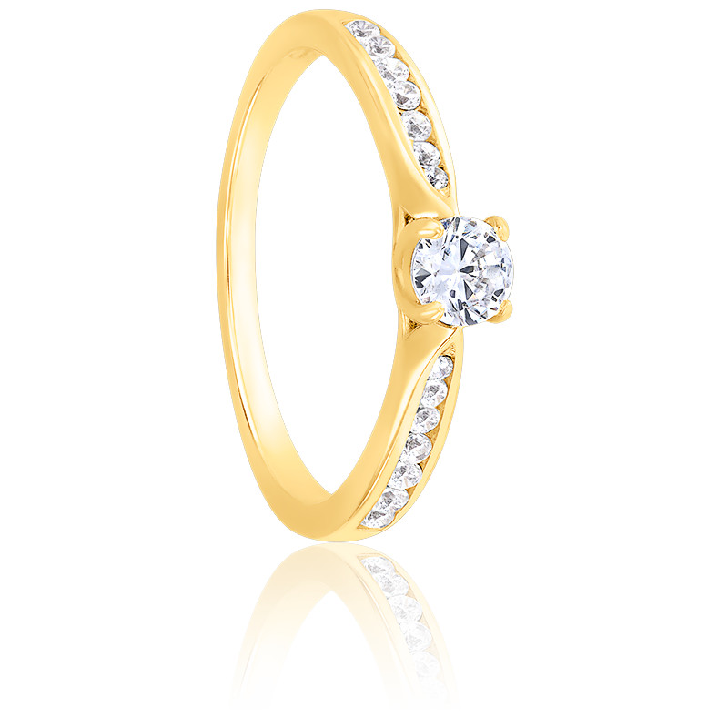 Bague Solitaire Grace Diamant 0,20 ct & Or Jaune 18K